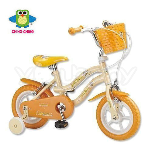 親親 CHING-CHING 12吋兒童腳踏車(橙色)-河馬