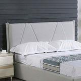 AT HOME-羅賓5尺灰白皮布雙人床頭片
