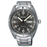 SEIKO 精工 CS系列 科技新貴時尚菁英機械錶/灰/43mm/4R36-04H0S/SRP709J1