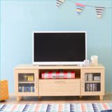 天空樹生活館 日系極簡風單抽雙門電視櫃 (p5)