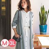 日本Portcros 預購-俐落長版開襟針織外套(共四色/M-3L)