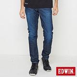 EDWIN EDGE斜袋窄管牛仔褲-男-酵洗藍