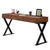 AT HOME-享利5尺柚木集層三抽書桌