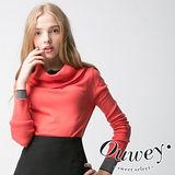 【OUWEY歐薇】假兩件柔膚觸針織長袖上衣(綠)