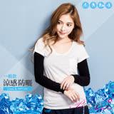 【BeautyFocus】台灣製抗UV涼感防曬運動袖套/一般款-24109黑色