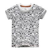 上衣 男童 滿版小怪獸 歐美經典兒童純棉短袖T恤(T087)