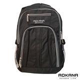 AOKANA奧卡納 舒壓輕量防水護脊電腦後背包(黑)68-030