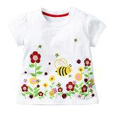 上衣 女童 花園蜜蜂 歐美經典兒童純棉短袖T恤(T099)
