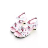 【Hello Kitty】 可愛海洋水手系列輕量公主高跟涼鞋 814668-白