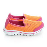 Roberta 諾貝達 極輕量透氣腳床型抗菌防臭減壓鞋墊休閒運動鞋 615018-柑