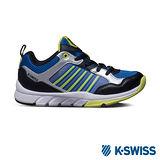 K-Swiss 童 X Trainer 運動鞋-藍/螢光綠/黑