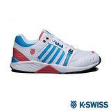 K-Swiss 女 Si-18 Trainer III經典休閒鞋-白/藍/玫紅