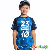 bossini男童-速乾短袖圓領衫07海藍