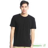 bossini男裝-素色純棉圓領T恤10黑(品特)