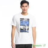 bossini男裝-印花短袖T恤16白(品特)