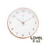 LOVEL 30cm新嫁娘白紗靜音壁掛時鐘(S721WH-RG)