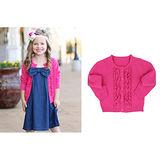 美國 RuffeButts 寶寶/兒童長袖荷葉裝飾小外套 亮麗桃紅 (BRCD03)