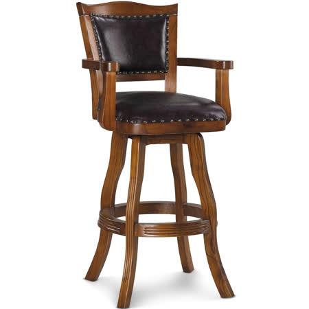 椅吧 復古英式古典質感實木吧台椅