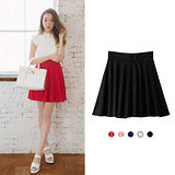 日本ANNA LUNA 預購-ViVi雜誌 鬆緊帶甜美折縫短裙(共五色/F)