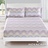 《HOYACASA羅丹韻味》雙人親膚極潤天絲床包枕套三件組
