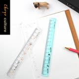 珠友 RU-10061 窄版定規洞洞尺-15cm/製圖/測量/定規/直尺/溝引尺/點式定規