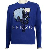 【KENZO】仙人掌亮片長袖上衣(寶藍色)