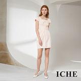 ICHE 衣哲 粉嫩好感立體打摺造型禮服洋裝