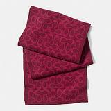 COACH經典LOGO圍巾/披肩(紫紅)