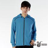 【遊遍天下】MIT台灣製男款連帽抗UV透氣吸濕排汗機能外套112-1寶藍