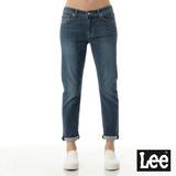 Lee 牛仔褲401 低腰七分直筒男友褲-女款-中漂藍