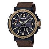 【CASIO 卡西歐】PROTREK 太陽能多功能登山時尚腕錶(51mm/ PRG-600YL-5)