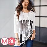 日本Portcros 預購-七分袖長版印花T恤(M-3L共十色)