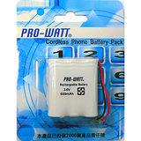 PRO-WATT 萬用接頭 無線電話電池4.8V 600mah (尺寸:AA*4)P110