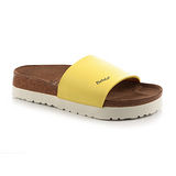 勃肯Betula 721393。REGGAE雷鬼 寬版拖鞋(鵝黃)