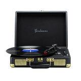Goodmans Ealing Turntable 英國手提箱黑膠唱片機 - 黑色