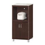 【顛覆設計】蒙諾圓角2×4尺胡桃色石面收納櫃