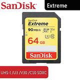 SanDisk Extreme SDXC 64G /V30 /U3 /UHS-I /C10 - 6114.DX364.322