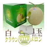 【果之蔬】日本【皇冠】靜岡縣溫室栽培哈密瓜(1.5kg/顆)禮盒1顆