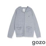 gozo 拉鍊外套T恤袖全長-中灰