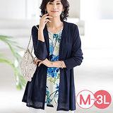 日本Portcros 預購-印花短袖上衣針織外套組(共三色/M-3L)