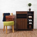優力格家具-DIY日式高質感雙門多功能鞋櫃/實木腳 2色