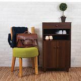 優力格家具-DIY日式高質感雙門一抽鞋櫃/實木腳 2色