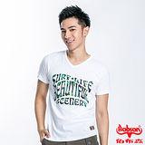 BOBSON 男款迷粉合身版短袖上衣(白23040-80)