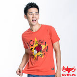 蘇菲的世界BOBSON 男款五芒星合身版短袖上衣(橘紅23033-26)