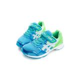 Asics 童鞋 慢跑鞋 藍綠白 - C728N4185