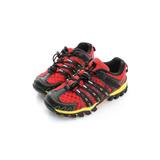 DIADORA 童鞋 慢跑鞋 黑紅 - DA7AKO3992