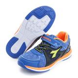 DIADORA 童鞋 慢跑鞋 黑藍 - DA7AKR3876