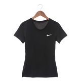 NIKE 女 緊身短衣 NIKE PRO COOL SHORT SLEEVE 黑 - 725746010