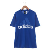 Adidas (男) 圓領短T ESS LINEAR TEE 藍 - S98734