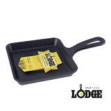 美國LODGE 單柄鑄鐵方型平底鍋 5吋(13cm)